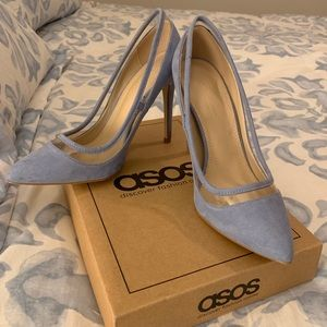 ASOS Pointed Heels Pale Blue